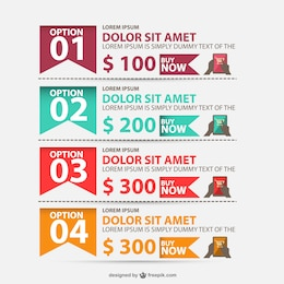 Shopping options infographic