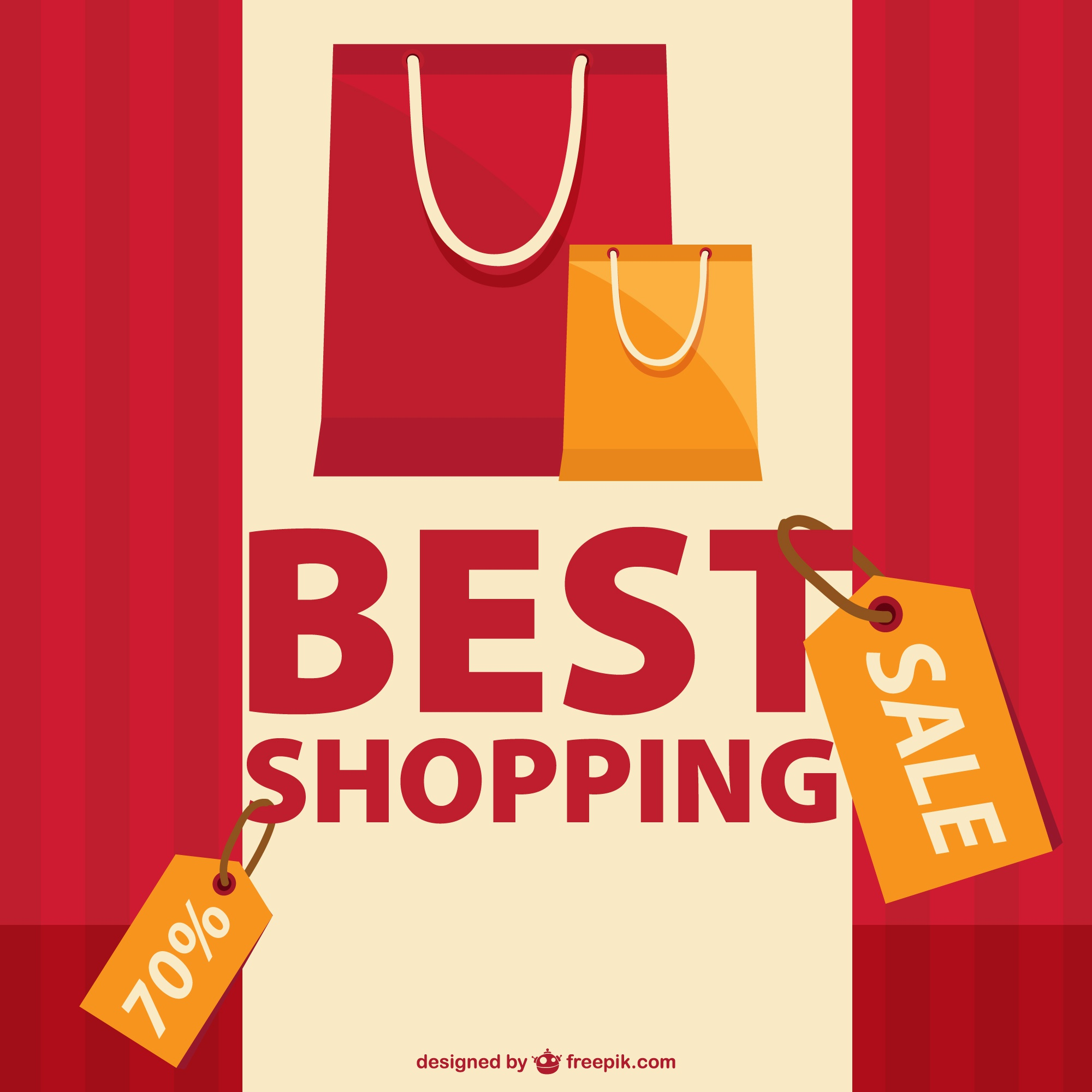 Shopping sale vector graphic