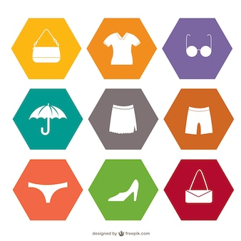 Shopping set of flat icons