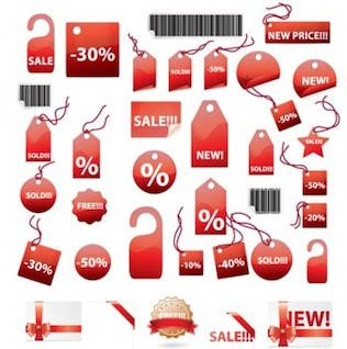 Shopping Tags Stickers