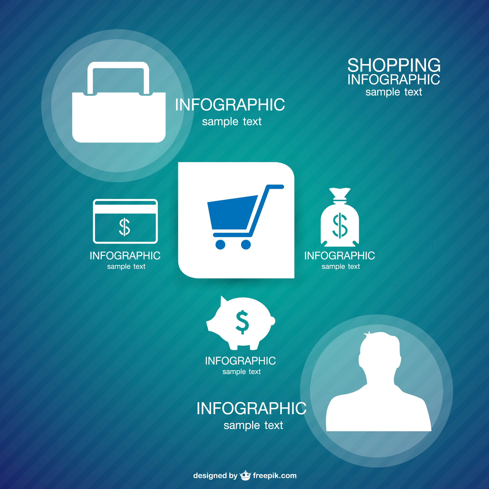 Shopping template infographic