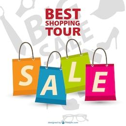 Shopping tour vector free