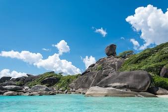 Shore tranquil ocean outdoor coastline