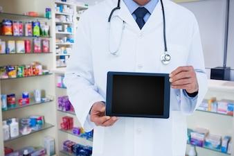 Showing computer graphic pharmacy storage pharmaceutics