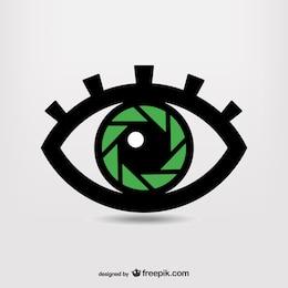 Shutter eye photography symbol