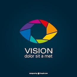 Shutter eye vector logo
