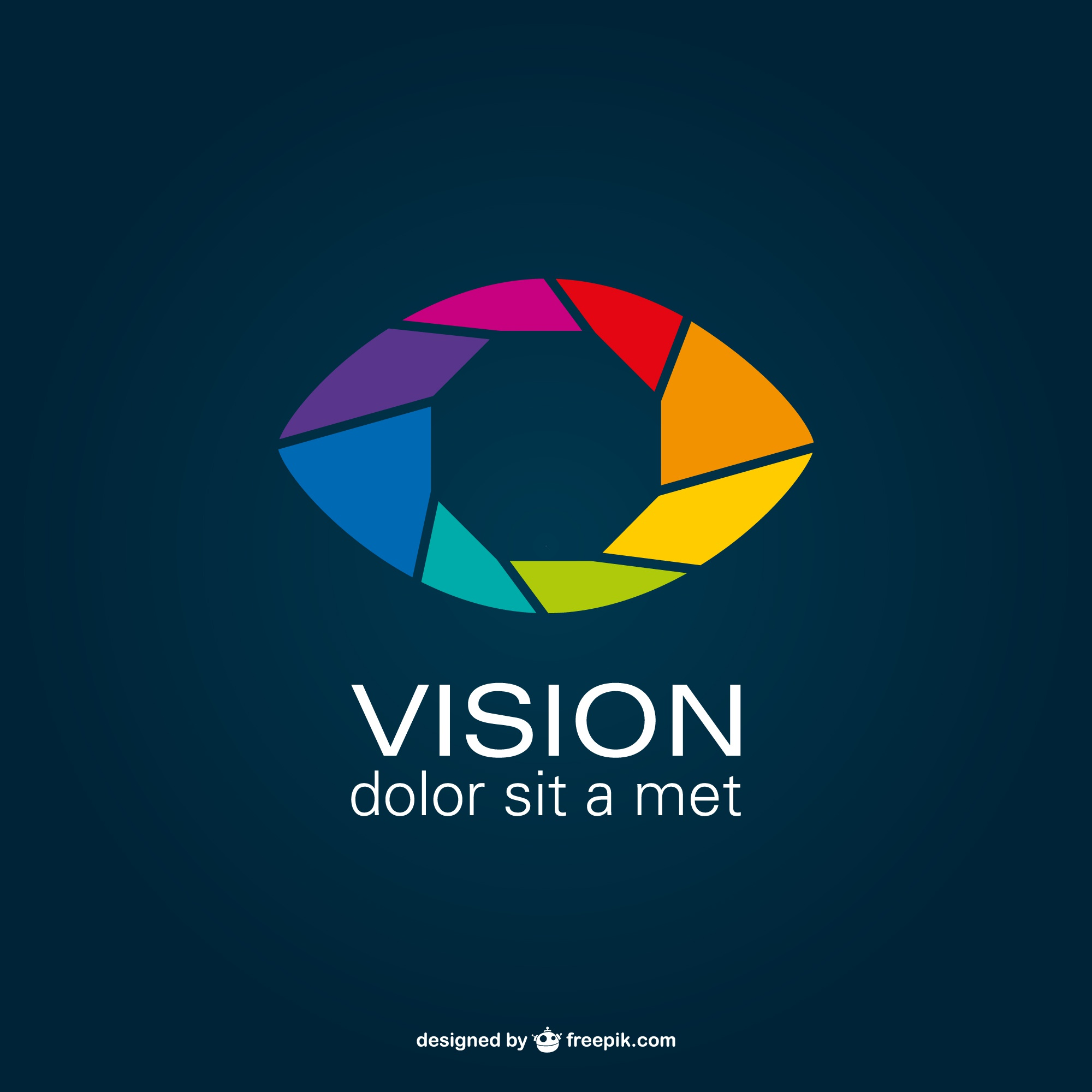 Shutter eye vector logo
