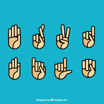 Sign language icons