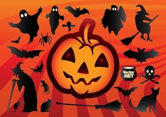 silhouette cartoon halloween
