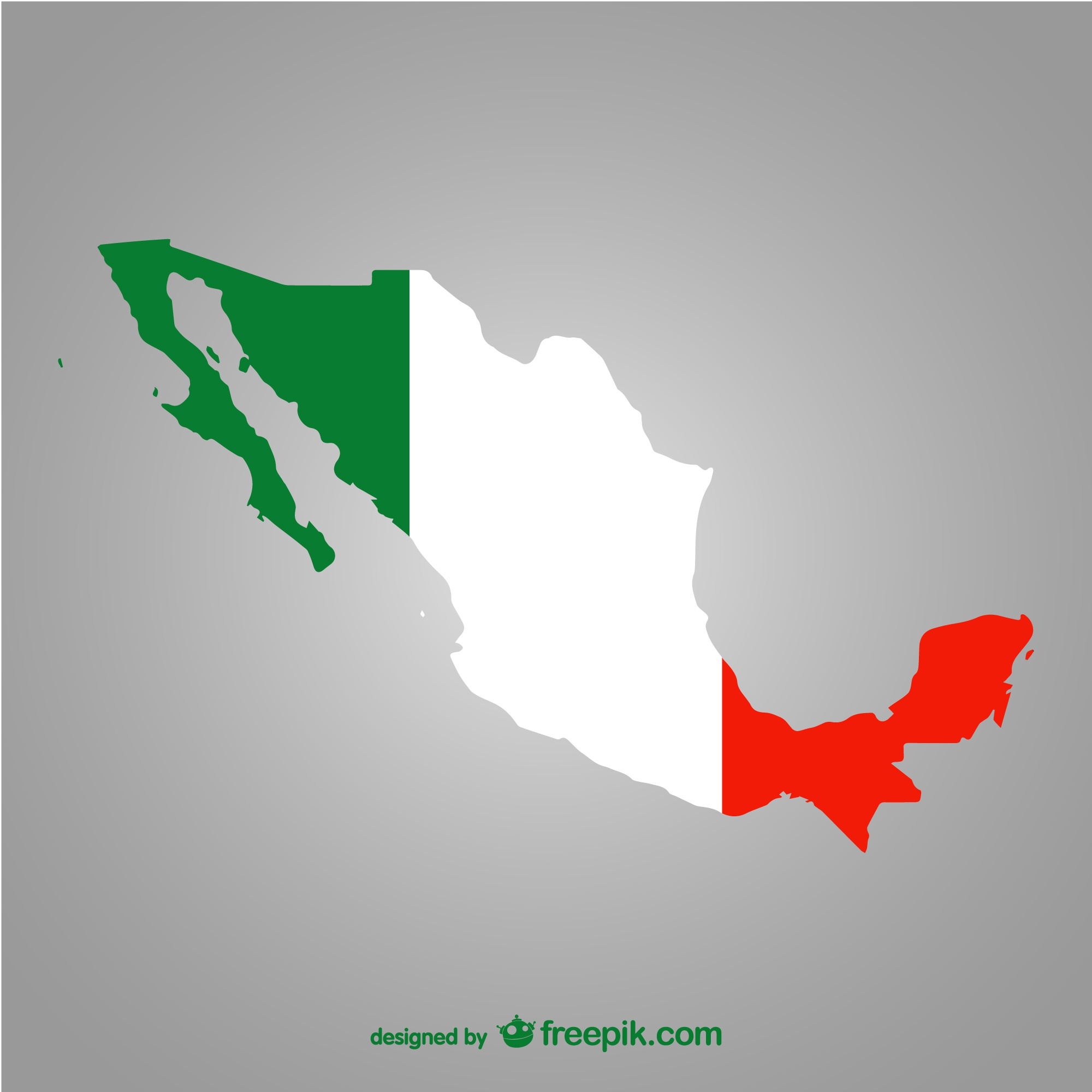 Silhouette of Mexico vector