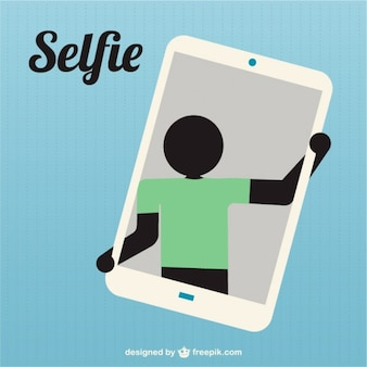 Silhouette taking selfie icon