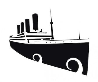 silhouette transatlantic ship