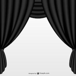 Simple black curtain