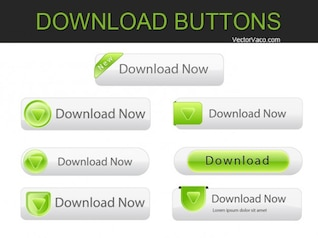 Simple Clean Greeny Web Buttons