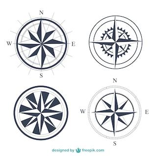 Simple compasses set