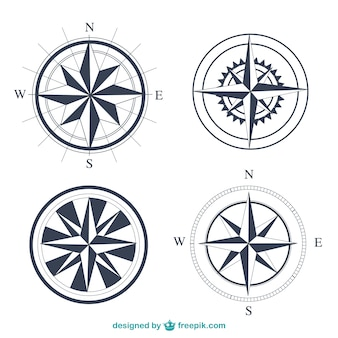 Simple compasses set