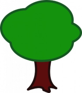 Simple green tree vector