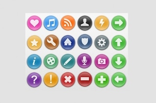 simple juicy sweeties web icons set psd png