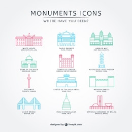 Simple monuments icons