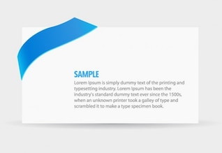 Simple paper with elegant blue ribbon vector