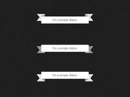 simple ribbon banners set psd