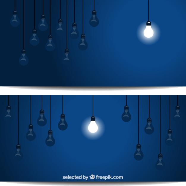 Single lightened bulb