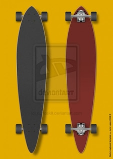 skate longboard template