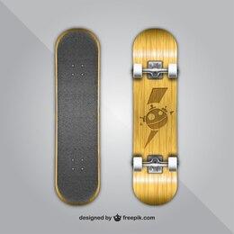 skateboard psd layered material
