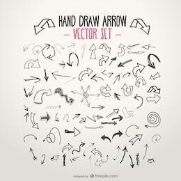 Sketchy arrow set