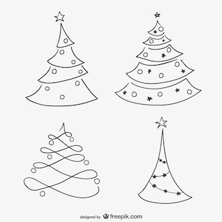 Sketchy Christmas trees