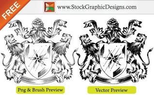 Sketchy Coat of Arms Heraldic Shield Free Vector