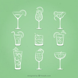 Sketchy cocktails icons