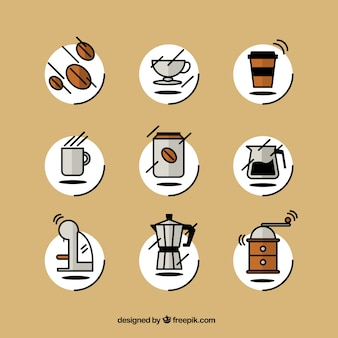 Sketchy coffee icons