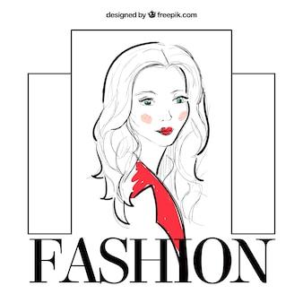 Sketchy fashion girl