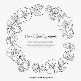 Sketchy floral frame