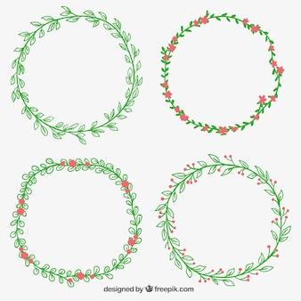 Sketchy floral wreaths