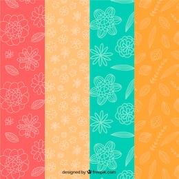 Sketchy flowers pattern