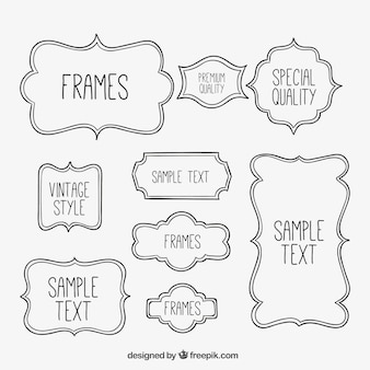 Sketchy frames collection