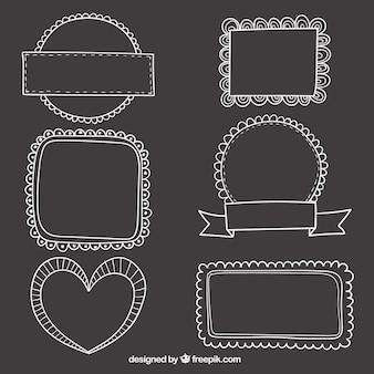 Sketchy frames on blackboard