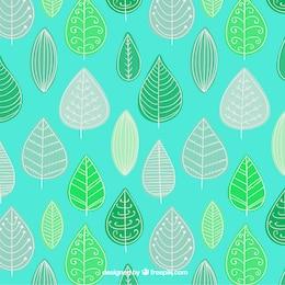 Sketchy leaves pattern