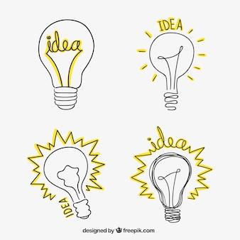 Sketchy light bulbs