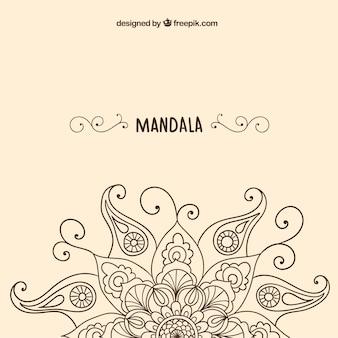 Sketchy mandala background