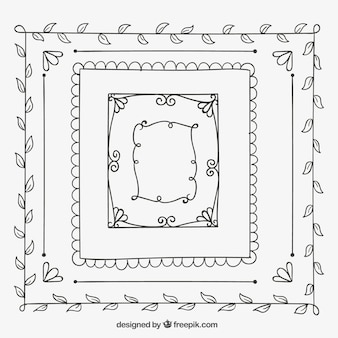 Sketchy ornamental frames collection