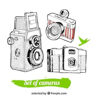 Sketchy retro cameras
