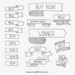 Sketchy ribbons for sales