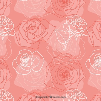 Sketchy roses pattern