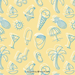Sketchy summer pattern