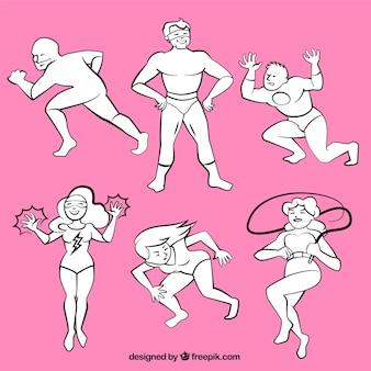 Sketchy superheros