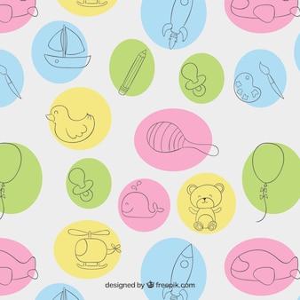Sketchy toys pattern
