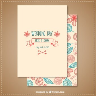Sketchy wedding invitation template